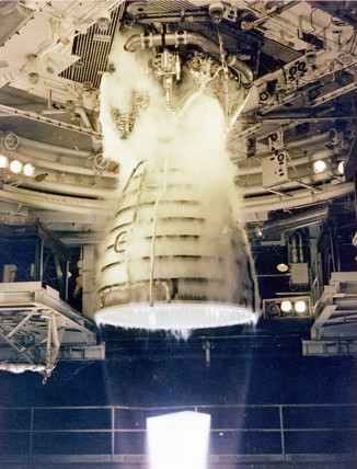 Shuttle engine testing, 1981.