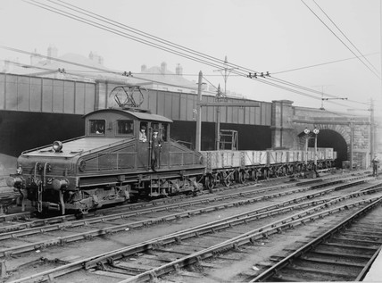 North Eastern Railway electric locomotive, c 1910.