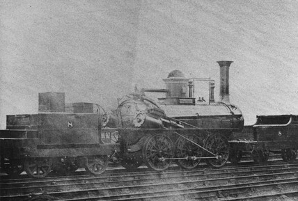 Stockton & Darlington Timothy Hackworth locomotive No 8 'Leaden'.
