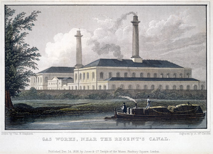 'Gas Works near the Regent's Canal', London, 1828.