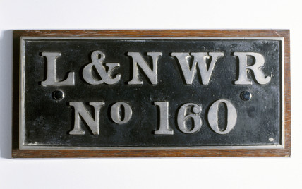 London & North Western Railway (LNWR) tender plate, 1846-1923.