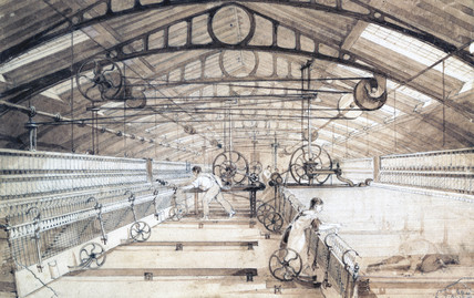 Swainson Birley Cotton Mill near Preston, Lancashire, 1834.