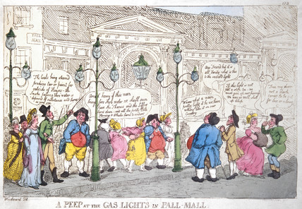 'A Peep at the Gas Lights in Pall Mall', London, 1807.