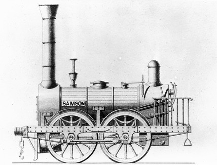 Samson' locomotive, c 1830s  Drawing of an at Science and Society
