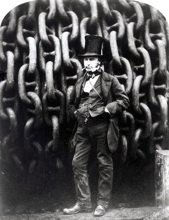 Isambard Kingdom Brunel, English railway engineer and inventor, 1857.