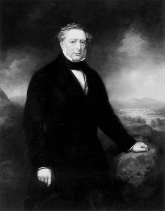 Robert Stephenson, English mechanical and structural engineer, c 1850-1859.