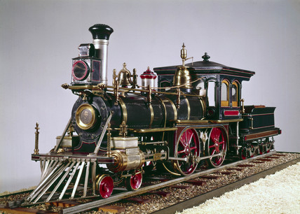 American 4-4-0 locomotive, 1875.