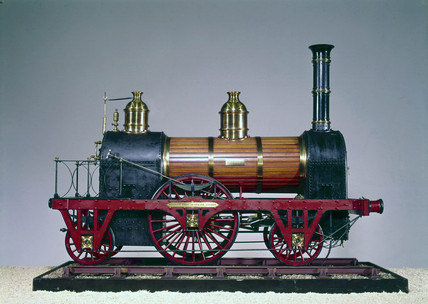 A standard railway locomotive of 1845.