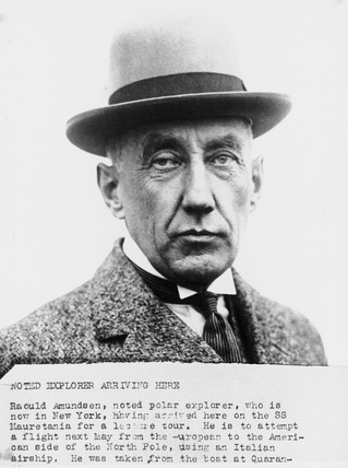 Roald Amundsen, Norwegian explorer and navigator, 1926.