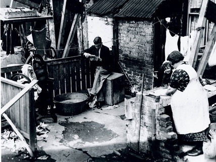 Slum housing in Tooting Grove, London, 21 May 1935.