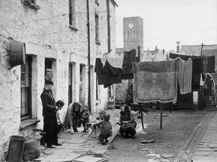 Slums in South Wales, 1 May 1939. 'Recent