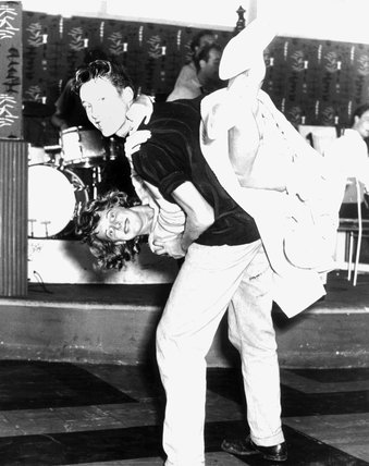 Jive dancing at Butlin's Holiday Camp, c 1958
