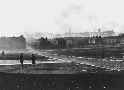 Slums and waste ground in Liverpool, Mersey