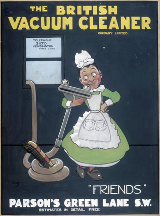 'Friends', poster promoting the British Vacuum Cleaning Company Ltd, 1906.