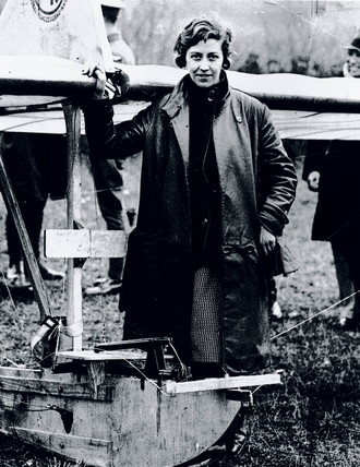 Amy Johnson, British aviator, 12 May 1930.