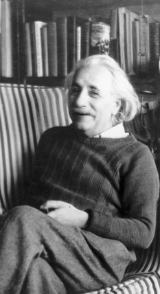 Albert Einstein, German mathematical physicist, 22 February 1944.