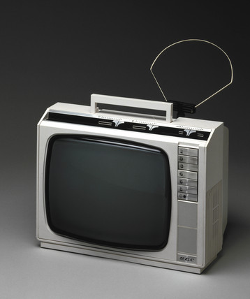 GEC portable monochrome television, model 3133/1, 1978.
