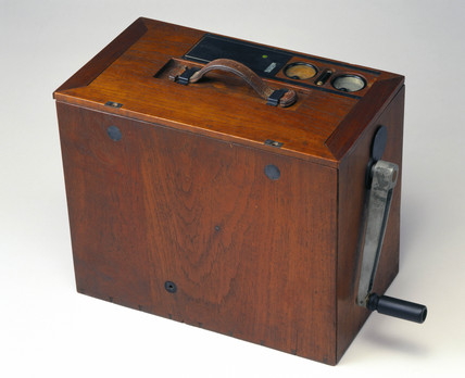 Low power transportable radio transmitter, c 1924.