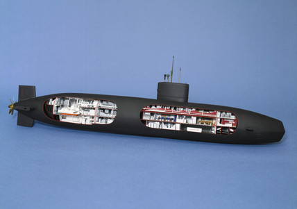 Nuclear powered attack submarine, HMS 'Swiftsure', 1973.