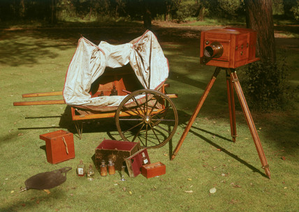 Wet-plate photographer's equipment, 1853.