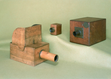 Three cameras asociated with W H F Talbot, c 1820-1842.