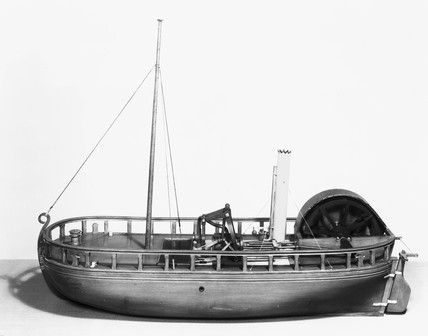 The paddle steamer 'Charlotte Dundas'. Mode