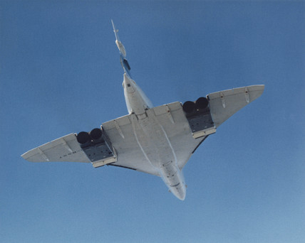 Concorde in flight, c 1972.
