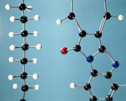 Molecular models of polythene and polyamide, 1985.