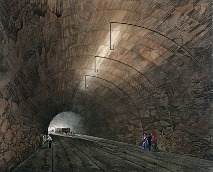 The Tunnel, Liverpool & Manchester Railway, 1832.