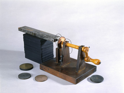 Rotating disc machine, 1850-1900.