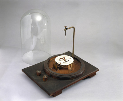 Astatic galvanometer, 19th century.