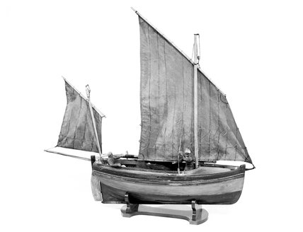 Model of a Clovelly Herring Boat