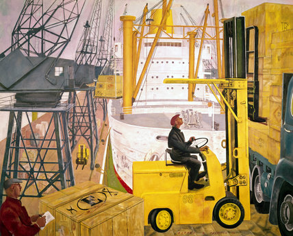 Mechanical handling at the docks, 1963.