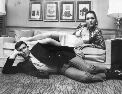 Diana Rigg and George Lazenby, October 1968.