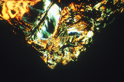 Quartz. Light micrograph in differential