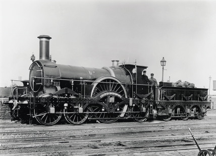 Canvas Santa Fe >> Steam locomotive No 342A, c 1890. at Science and Society Picture Library