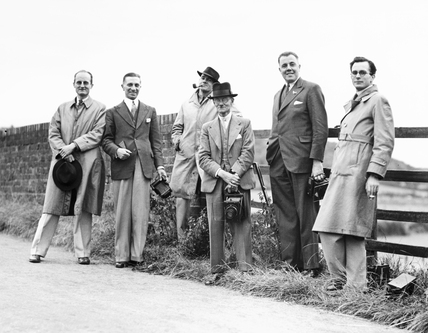 Six members of the Railway Photographic Society, 1937.