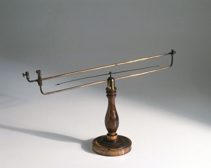 oersted's needle, 1828. This apparatus