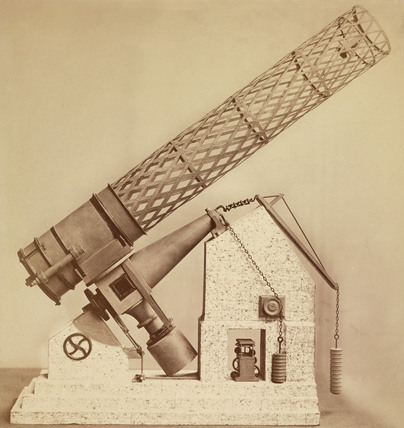 Model of the Great Melbourne telescope, Australia, 1876.