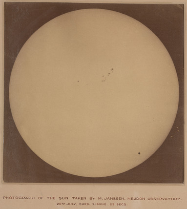 Photograph of the Sun, taken from Paris, France, 20 July 1875.