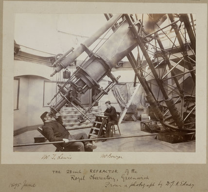 Making observations at the Royal Observatory, Greenwich, London, 1895.