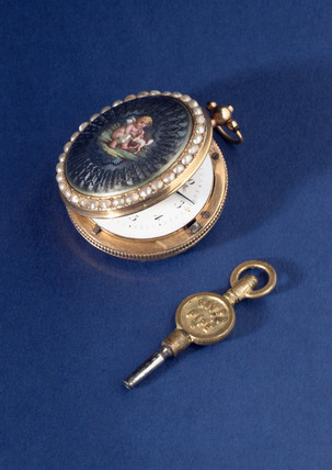 Verge watch with fusee. French, mid 18th century.