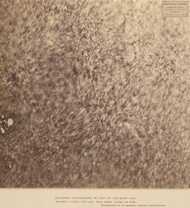 Photographic close-up of the Sun, 10 May 1878.