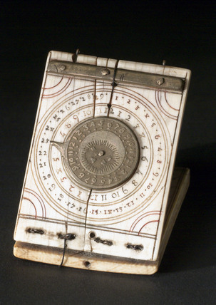 Ivory diptych sundial, 1501-1600.