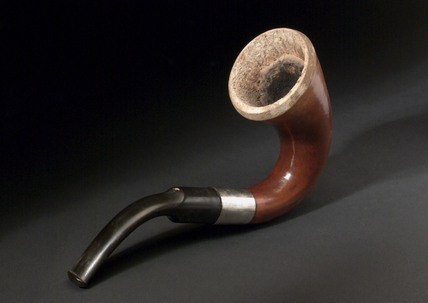 Calabash tobacco pipe, European, 1850-1900.