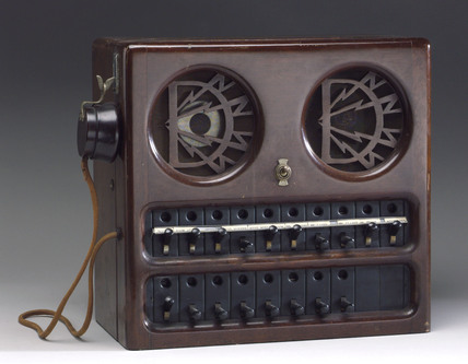 Dictograph loudspeaking 'master' house-telephone unit, c 1940.