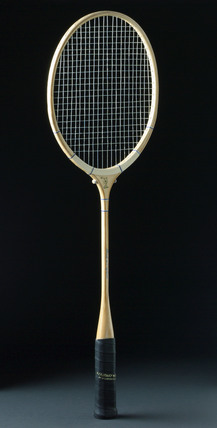 'Dominion' badminton racket by Lillywhite Frowd Ltd, c 1950.