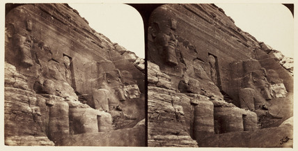 'The Great Rock Temple at Abou Simbel', 1859.