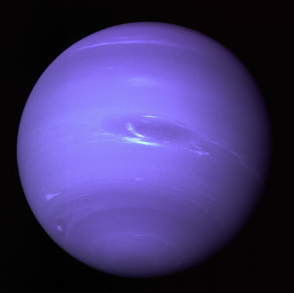 Neptune, full disc view, 2 April 1990.