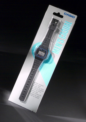 Casio LCD digital watch, 1999.